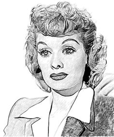 Lucille Ball 002 Drawing