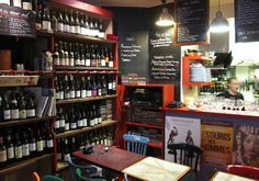 My favorite restaurant/wine shop in Paris, Le Verre Vole. Tiny little hole in the wall, but oh so good.