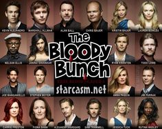 The True Blood Season 4 cast as The Bloody Bunch