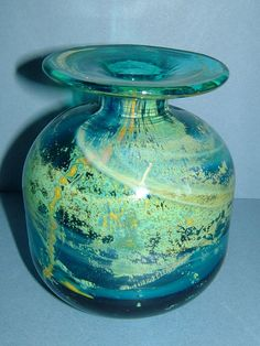 Vintage 1960s Mdina Glass Vase Made in Malta with by BiminiCricket, $45.00