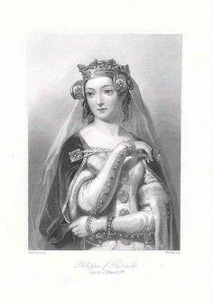 """D. Filipa de Lencastre,1359–1415, a Rainha de Portugal, que fundou as Santas Casas de Misericórdia  """"Princesa do Santo Graal/ Humano ventre do Império/Madrinha de Portugal"""" - Fernando Pessoa"""