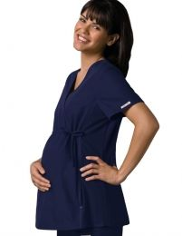 Be comfortable and classy in this maternity scrub top from Cherokee Medical Uniforms. This colored scrub top features an empire waist with an adjustable drawstring and soft, stretchy knit side panels that fits to pregnant women. Maternity Scrubs, Maternity Tops, Maternity Wear, Maternity Fashion, Maternity Styles, Pregnancy Fashion, Maternity Clothing, Cherokee Uniforms, Cherokee Scrubs