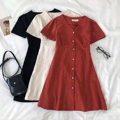 Trendy Dresses, Casual Dresses, Summer Dresses, Cute Casual Outfits, Pretty Outfits, Harajuku Fashion, Fashion Outfits, Mode Kawaii, Clothing Photography