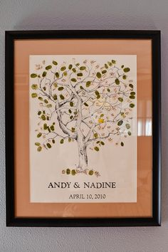 better pic of tree guest book idea. awesome idea!