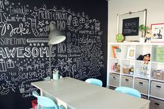 Dicas para decorar a casa com parede de Lousa! #secretsdecor — Niina Secrets