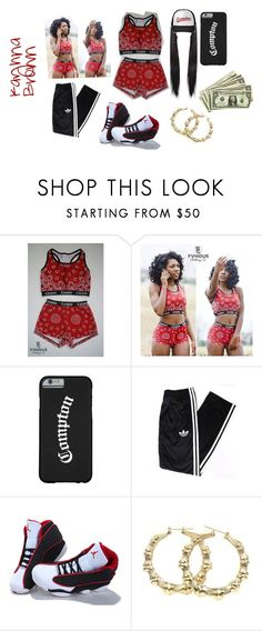 """""""Outfit # 69 Compton"""" by diamondslove ❤ liked on Polyvore featuring adidas and NIKE"""