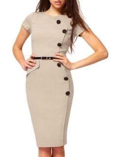 Miusol Women's Vintage Cap Sleeves Business Bodycon Dress