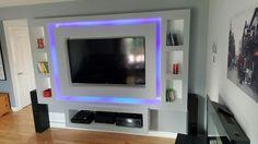 Living Room Decor Colors, Ceiling Design Living Room, Bedroom False Ceiling Design, Tv Wall Design, Tv Unit Design, Wall Shelves Design, Living Room Designs, Home Theater Rooms, Home Theater Design