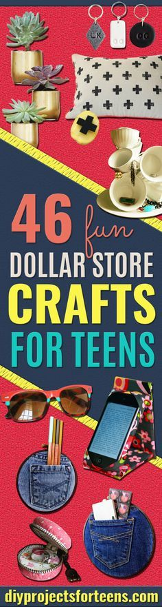 Fun Dollar Store Crafts for Teens - Cheap and Easy DIY Ideas for Teenagers to Make for Dollar Stores - Inexpensive Gifts and Room Decor for Tweens, Boys and Girls - Awesome Step by Step Tutorials with Instructions for Cool DIY Projects http://diyprojectsforteens.com/dollar-store-crafts-teens
