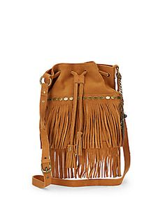 Lucky Brand Nirvana Suede Fringed Drawstring Crossbody Bag | Saks OFF 5TH