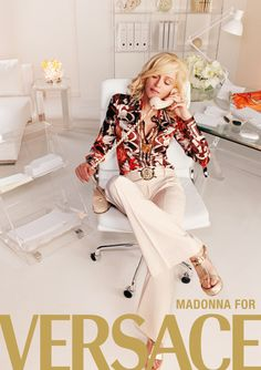 Madonna for Versace by Mario Testino