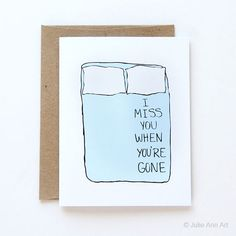 Artist Julie Ann won't make your usual Valentine's Day cards. Julie's funny, weirdly sweet and sometimes naughty messages are ones that you won't find in… Valentines Day Card Funny, Anti Valentines Day, Valentine Cards, I Miss You Card, Etsy Cards, Julie Ann, Romantic Cards, Sweet Messages, Love Notes