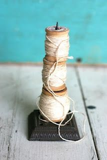 receipt spike made into thread tower!