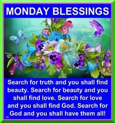 Have a Blessed Monday!