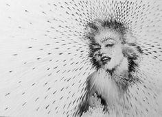 Visually Arresting 'Exploding' Portraits Of Film & Pop Culture Icons Marolyn Munroe