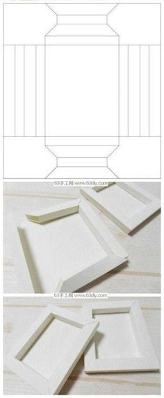 PAPIER-RAHMEN-FORM Best Picture For Frame Crafts with flowers For Your Taste You are looking for something, and it is going to tell you exactly what you are looking for, and you didn't Diy Gift Box, Diy Box, Diy Gifts, Papier Diy, Frame Template, Templates, Frame Crafts, Paper Frames, Cardboard Crafts