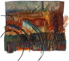 Russett Field  by Margaret M. Roberts  - textiles and mixed media