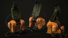 Test task for Trace Studio PBR Spec/Gloss Texture Res Vertices 8963 Triangles 11544 Abb Robotics, Game Assets, Leather
