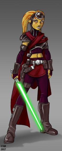 Twi'lek+Jedi+by+SpaceCaptSteve.deviantart.com+on+@deviantART