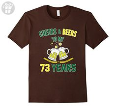 Mens Funny Birthday T shirt for 73 Years Old. 73rd Birthday Party Medium Brown - Birthday shirts (*Amazon Partner-Link)