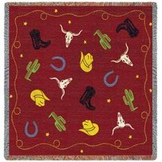 Cowboy Days Kids Western Throw Blanket