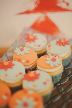 orange and mint cupcakes // photo by GideonPhoto.com