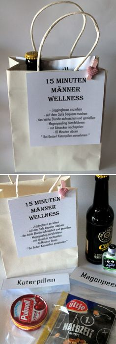 DIY 15 minutes men wellness - the perfect gift idea for men - Geschenke für Männer Diy Gifts For Men, Diy For Men, Gifts For Her, Men Gifts, Gifts For Friends, Christmas Calendar, Christmas Crafts, Crochet Christmas, Christmas Presents