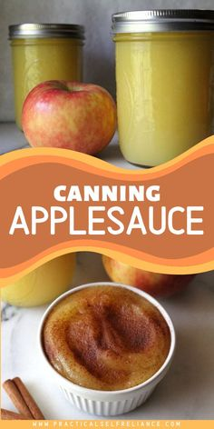 Canning applesauce is the perfect way to preserve a bumper crop of apples. Applesauce is one of the easiest ways to preserve apples at home and a perfect place to start for the beginning canner. #apples #applesauce #canning #foodpreservation #preserving #homecanning #canningrecipes #recipe Canning Apples, Canning Peaches, Canning Vegetables, Canning Lids, Canning Labels, Canning Recipes, Jar Lids, Canned Applesauce, How To Make Applesauce