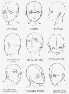Manga Drawing Tips Drawing Tips Face shape Pencil Art Drawings, Art Drawings Sketches, Face Drawings, Manga Illustrations, Animae Drawings, How To Draw Sketches, How To Sketch Faces, Sketches Of Faces, Body Sketches