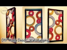 Size of images for hobby outdoor s diya craft lights target photos small baskets home · images bathroom baskets bunnings diy ideas lobby decorative Wall Hanging Crafts, Diy Hanging, Diy Wall Art, Diy Wall Decor, Twine Crafts, Diy And Crafts, Crafts From Recycled Materials, Newspaper Crafts, Light Crafts