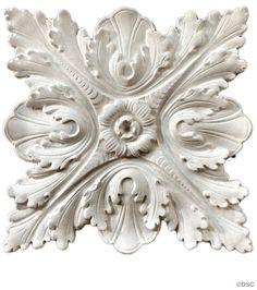 "Plaster Rosette--Italian--10 1/2"" X 10 1/2""--1"" Relief - $97 - Decorators Supply Corporation"