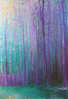 Young Pines, 1997, Wolf Kahn (love the coloring he did w this pic, is cool)