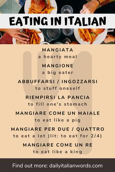 Italian Word of the Day: Mangiare (to eat)