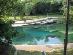 Barton Springs swimming hole is a massive 3-acre Texas spring-fed pool