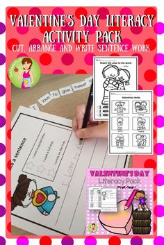 A cute packet of Valentine's Day Literacy Sheets suitable for PreK-Year 1 Students. Perfect for Literacy stations or homework covering sentence writing, verbs, nouns and adjectives.  This zipped file contains both US and UK Spelling variations.