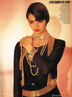 """Vogue UK June 1983 """"A New Number for Chanel"""" Photographer: Karl Lagerfeld Model: Talisa Soto Hair: Didier Malige Makeup: Bonnie Maller Model: Talisa Soto"""