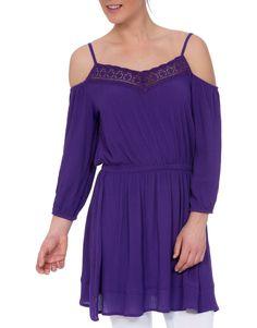Cold Shoulder Lace Trim Tunic