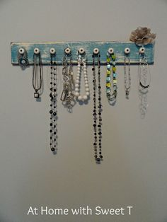 At Home with Sweet T: Knobby Jewelry Organizer
