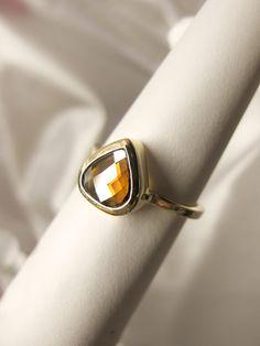 Cognac Rose Cut Diamond Ring