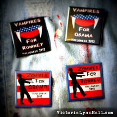 Politics Can Be Scary - Political Halloween Buttons
