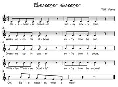 Ebenezer Sneezer: Scale song. Do re mi fa so la ti do