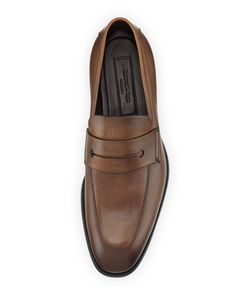 fe94d9d2d06 Ermenegildo Zegna Men s New Flex Leather Penny Loafer Penny Loafers