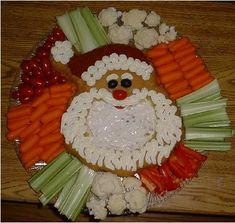 Santa Veggie Tray | Vegetable Platter