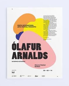 Olafur arnald's recent event poster. Perth 2014 <3 Rockwell Catering and Events