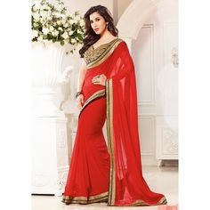 Charming Georgette Embroidered Work Festive Wear & Party Wear Saree at just Rs.899/- on www.vendorvilla.com. Cash on Delivery, Easy Returns, Lowest Price.
