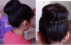 Moño/Chongo con Trenza/ Braided Bun Hair Tutorial