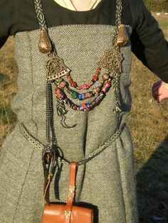 Viking bling by ~VendelRus on deviantART I love the wool fabric in this dress. I would love to find some of that