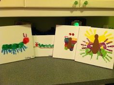Caterpillar and butterfly toddler art