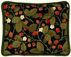 Wild Strawberries Tapestry Cushion Front
