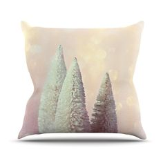 """Sylvia Cook """"Bottle Brush Trees"""" Pink Outdoor Throw Pillow"""